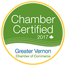 """Nominee for (Award Category) of the Year, Greater Vernon Chamber 2017 Business Excellence Awards"